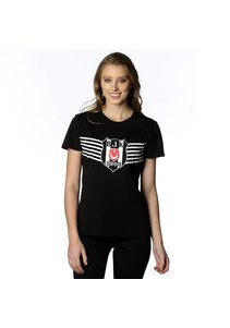 Beşiktaş Victoire Logo T-Shirt pour Femmes 8818114 Noir