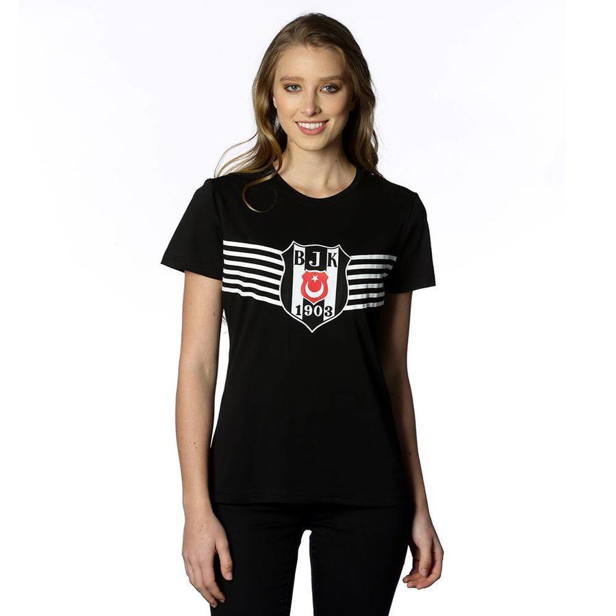 Beşiktaş Triumph Logo T-Shirt Damen 8818114 Schwarz