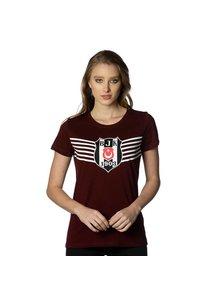 Beşiktaş Overwinning Logo T-Shirt Dames 8818114 Bordeaux