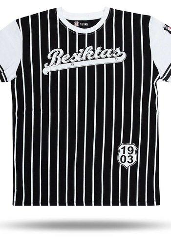 Beşiktaş gestreept college t-shirt kinderen 6718117 Zwart