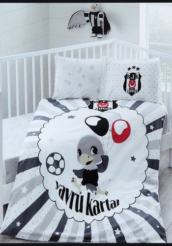 Beşiktaş Taç Licensed Bed Clothes Set Balloon Baby