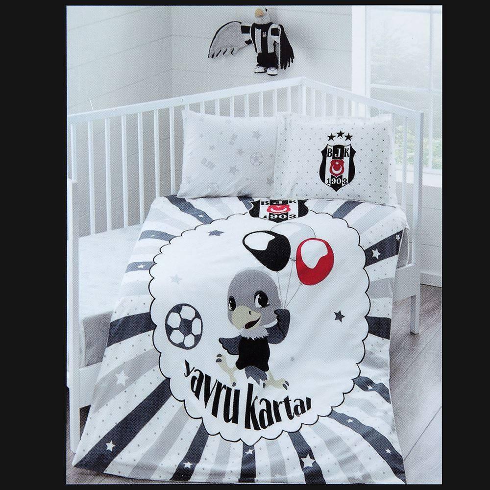 Beşiktaş Taç Lizenziert Bettwäsche Set Balloon Baby Kartal Yuvası