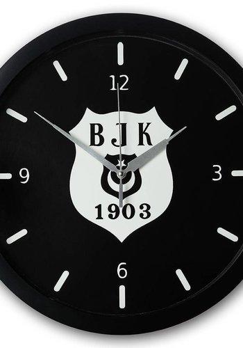 Beşiktaş zilver logo Wandklok