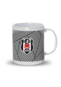 Beşiktaş striped ceramic mug