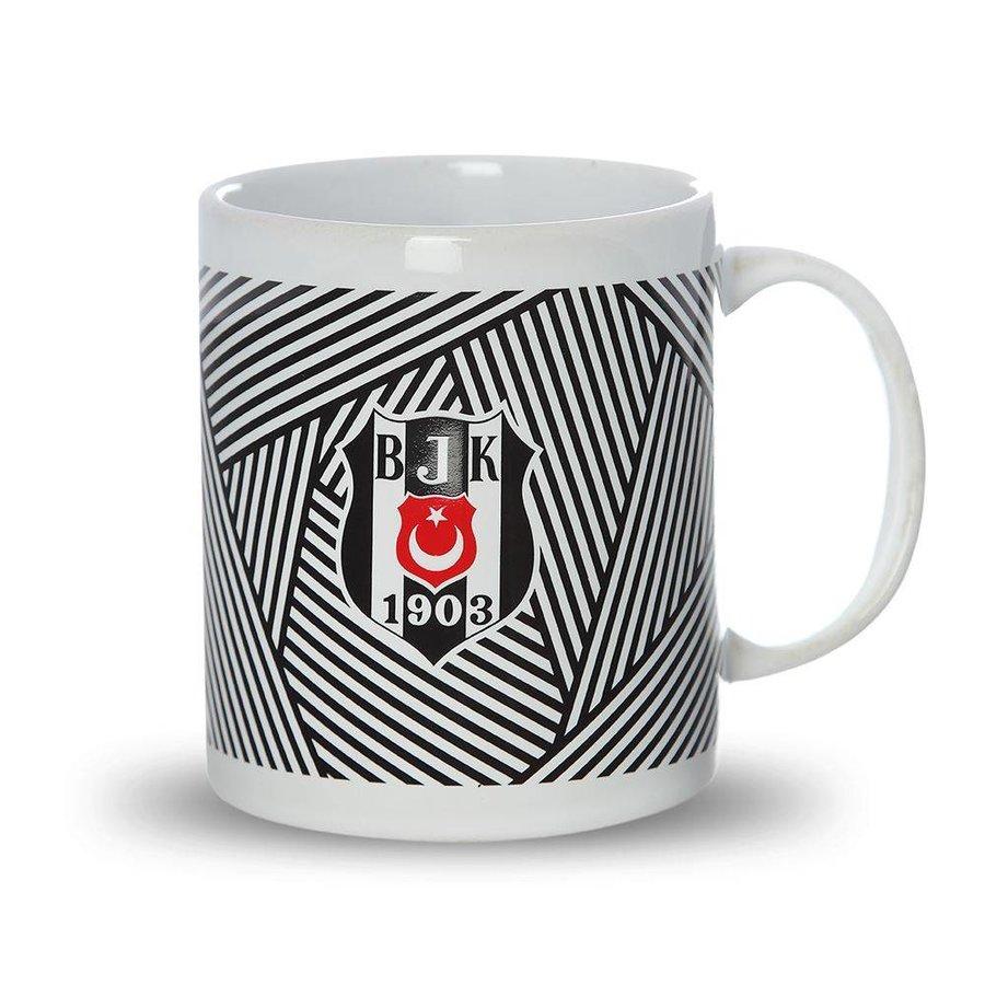 Beşiktaş gestreept keramisch mok