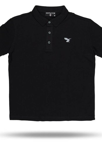 Beşiktaş basic polo t-shirt kinderen 6818152 zwart