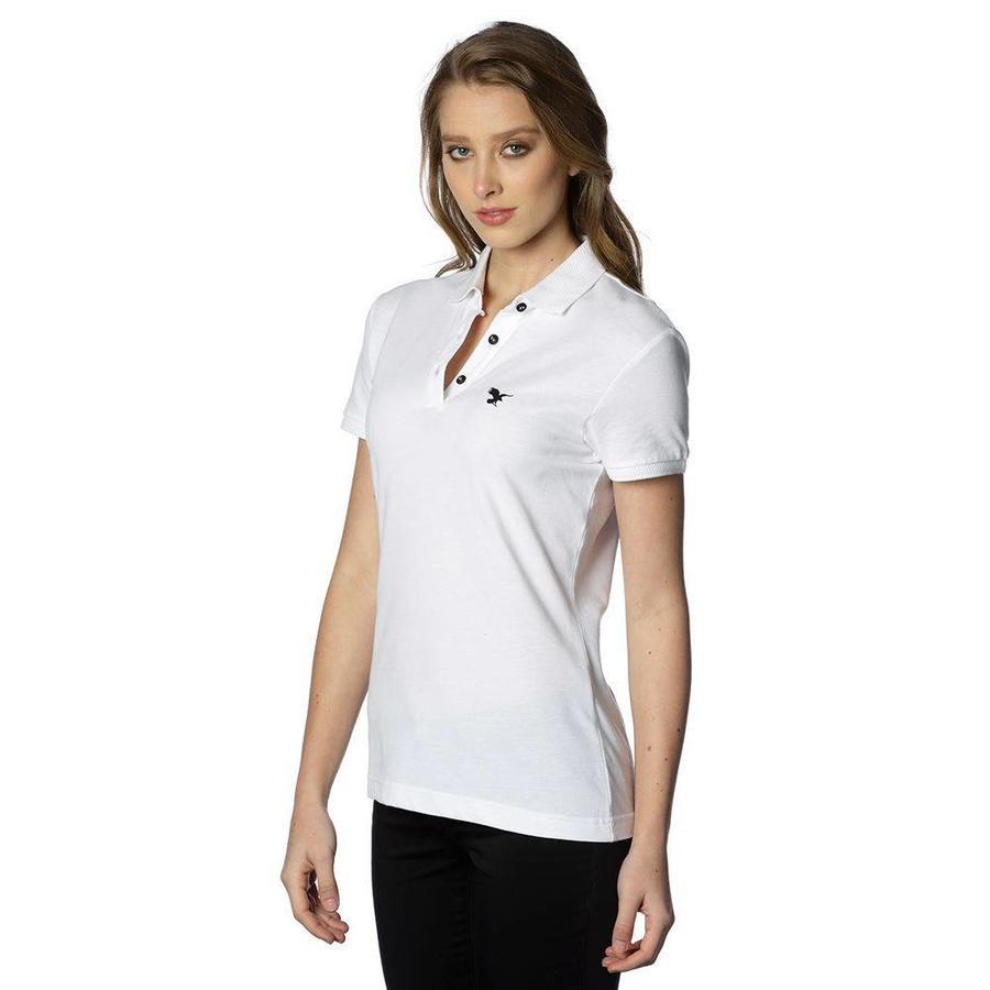 Beşiktaş basic polo t-shirt damen 8818152 weiss