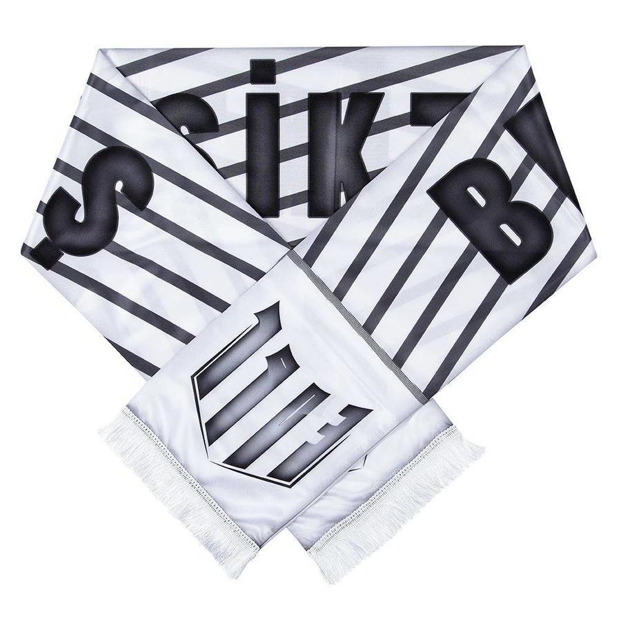 Beşiktaş diagonal striped satin scarf
