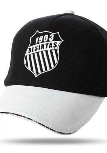 Beşiktaş rosette logo kappe 02 schwarz