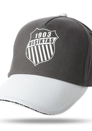 Beşiktaş rosette logo kappe 02 anthrazit