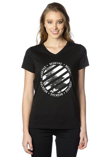 Beşiktaş t-shirt damen 8818147 schwarz