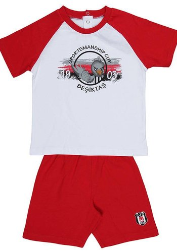 Beşiktaş outfit with short 2 pc. eagle 01 white-red
