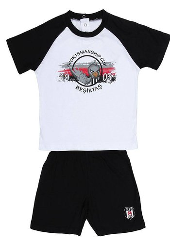 Beşiktaş outfit with short 2 pc. eagle 01 white-black