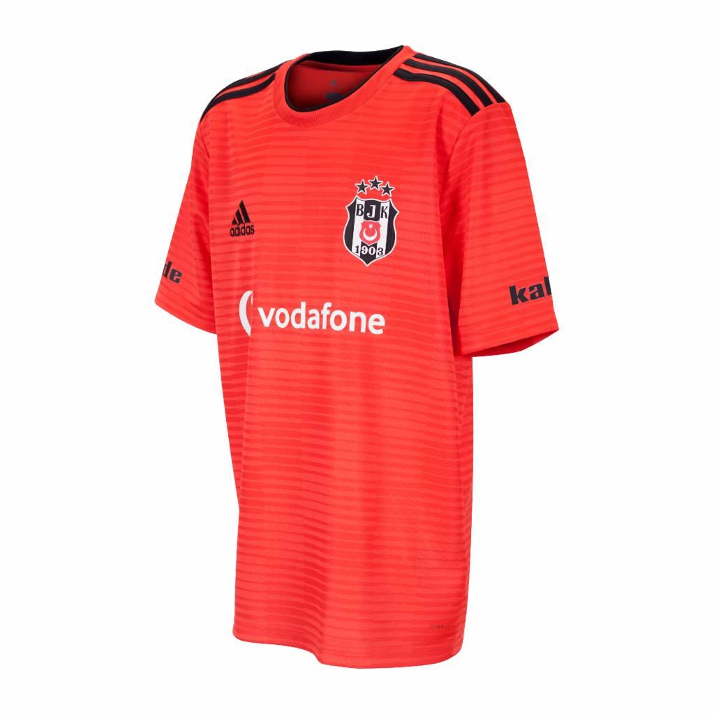 Adidas Beşiktaş Shirt Rood Kinderen 18 19 (Uit)