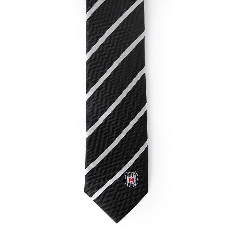 Beşiktaş thin diagonal striped tie in Box 03