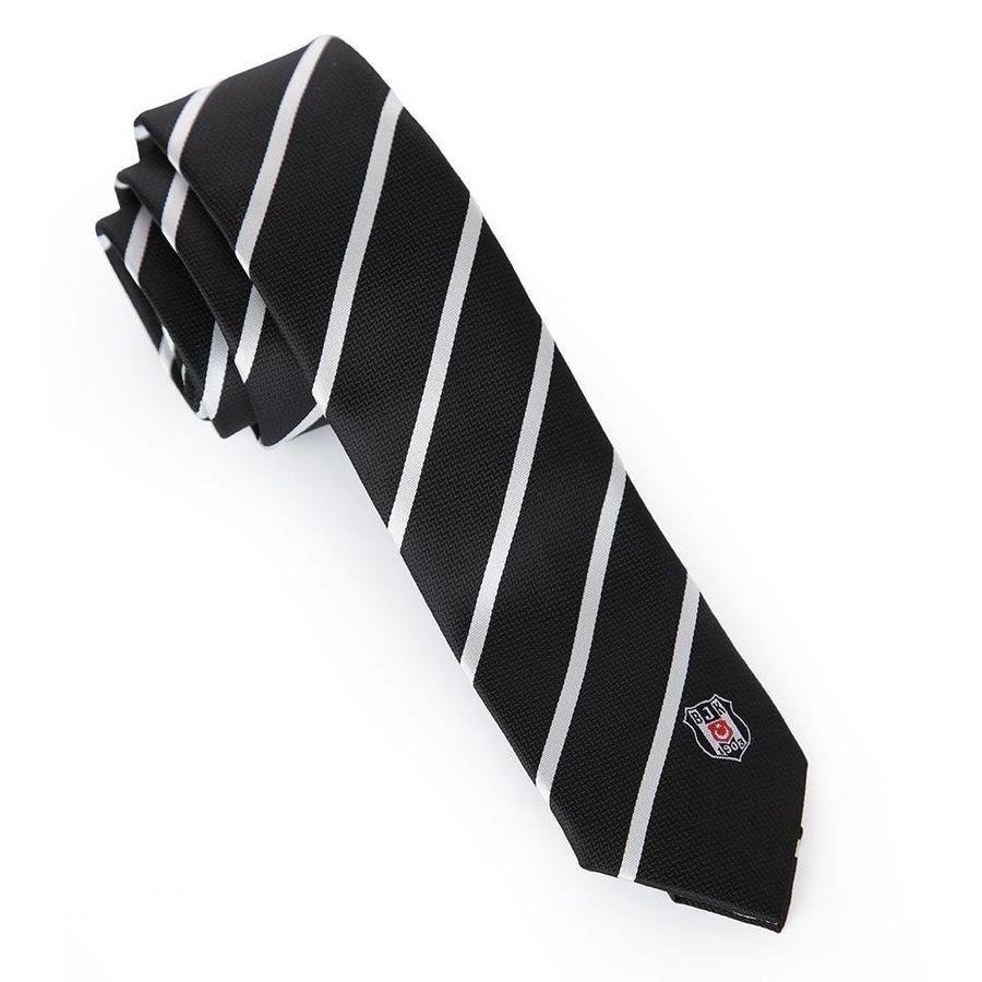 Beşiktaş cravate mince à rayures diagonal en boîte 03