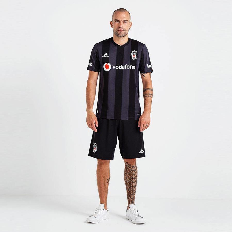 Adidas Beşiktaş Maillot Noir à rayures verticales 18-19
