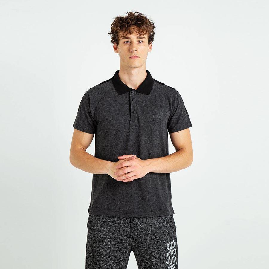 Beşiktaş Plain Basic Polo T-Shirt Herren 7819151