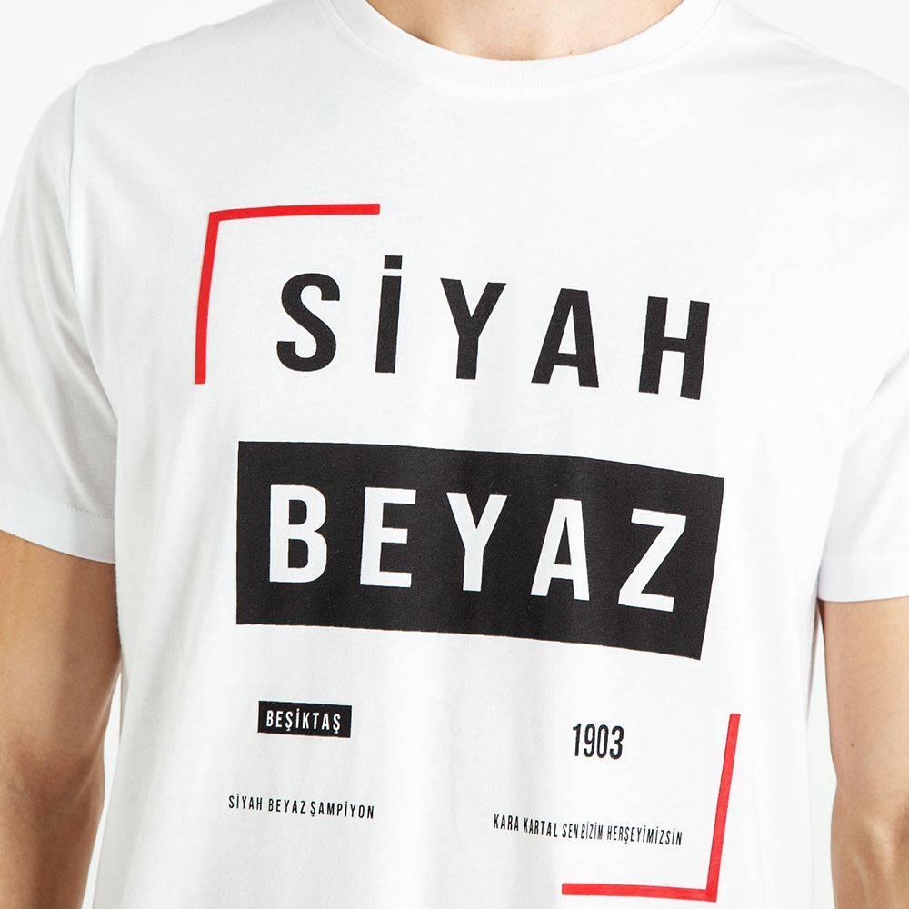 Beşiktaş Mens Black White Frame T-Shirt 7819112 - Kartal Yuvası ...