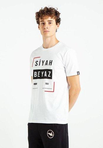 Beşiktaş Schwarz Weiss Frame T-Shirt Herren 7819112