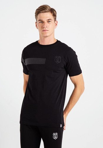 Beşiktaş Injection Leather T-Shirt Heren 7819126