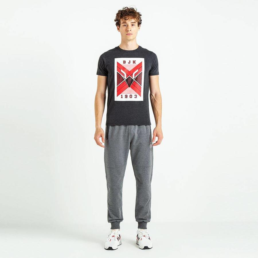 Beşiktaş Feature Eagle T-Shirt pour hommes 7819110 Anthracite Melange