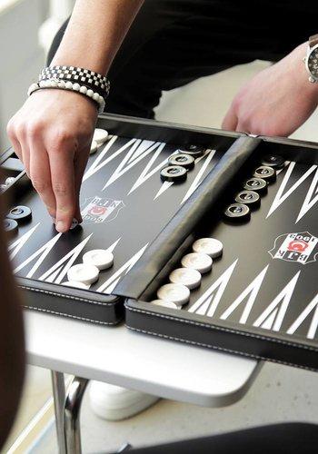 BJK leather backgammon