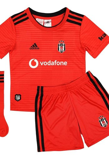 Adidas Beşiktaş Mini shirtset Rood 18-19