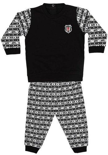 Beşiktaş Baby Zweiteilig Outfit K18-126 Schwarz