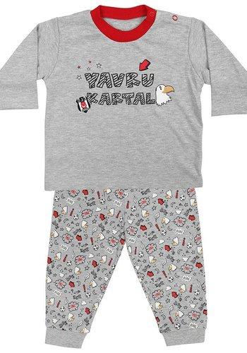 Beşiktaş Baby two-piece Outfit K18-124 Grey