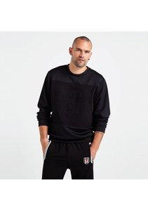 Beşiktaş Logo Monochrome Sweater Pour Hommes 7819205