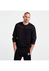 Beşiktaş Mens Logo Monochrome Sweater 7819205