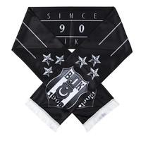 Beşiktaş Silbern 3 Sterne Logo Satin Schal