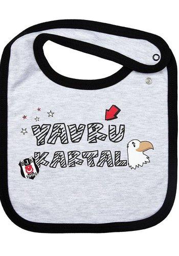 Beşiktaş Baby Bib K18-146 Grey