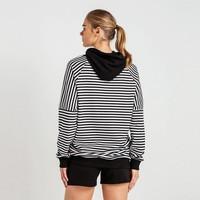 Beşiktaş Gestreept Hooded Sweater Dames 8819229