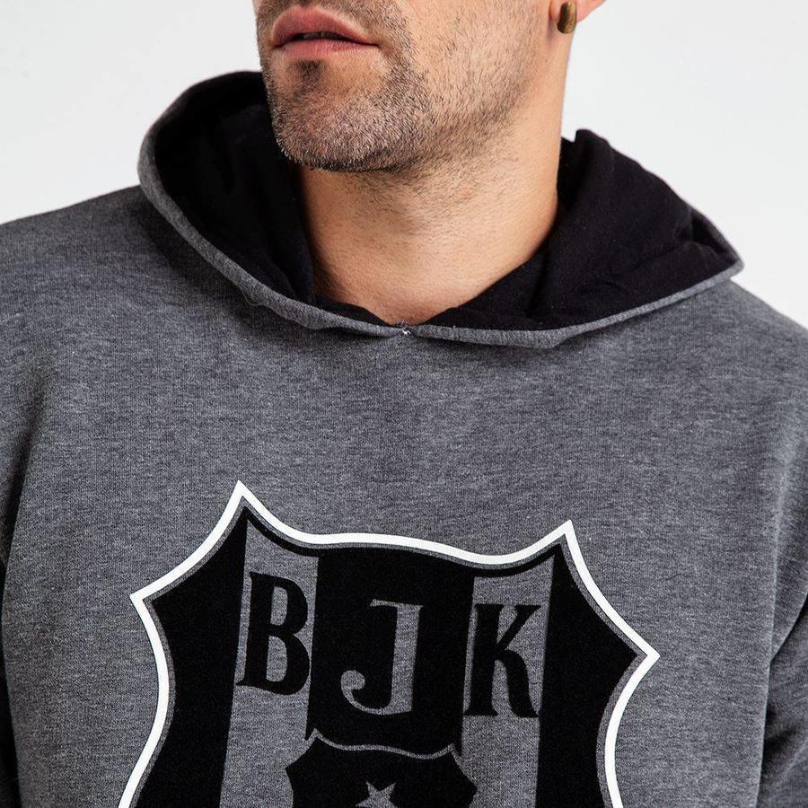 Beşiktaş 3D Flock Logo Hooded Sweater Heren 7819212