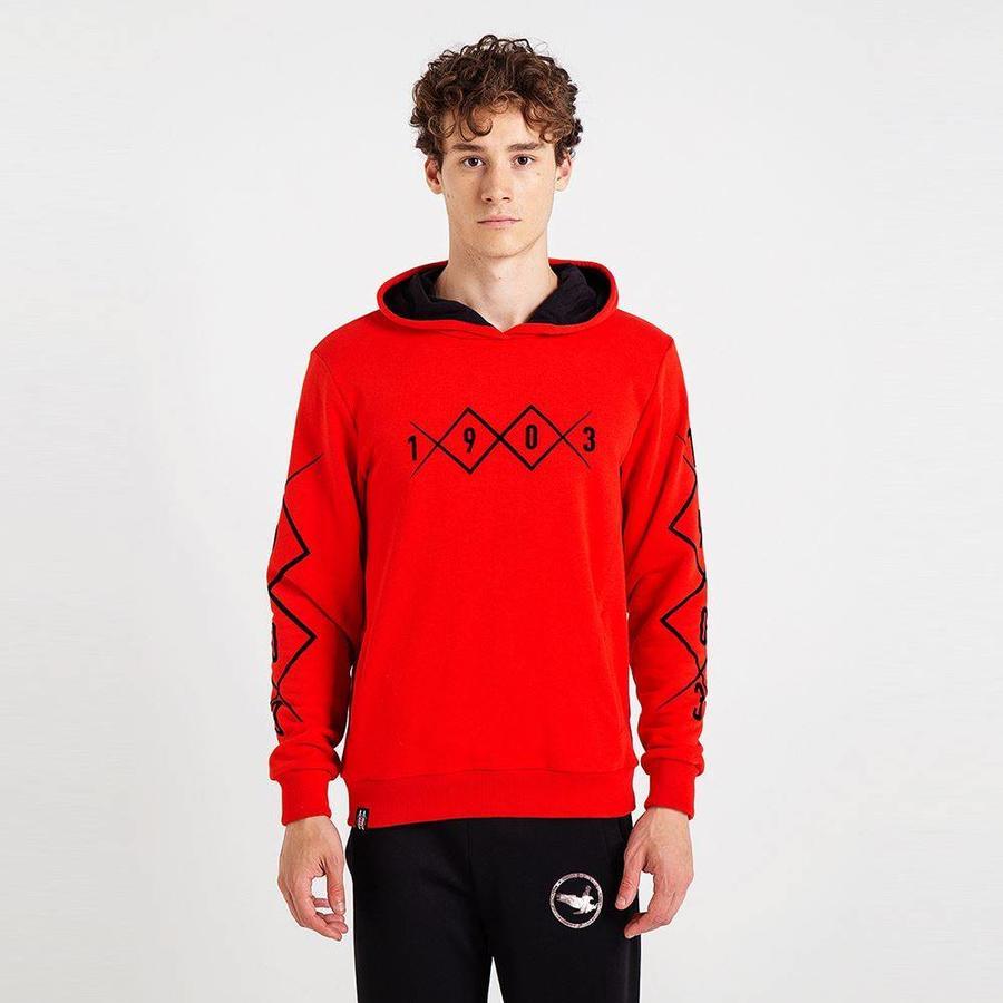 Beşiktaş 1903 Allover Hooded Sweater Heren 7819226 Rood