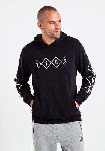 Beşiktaş Mens 1903 Allover Hooded Sweater 7819226 Black