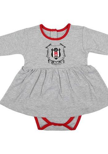 Beşiktaş Mädchen Baby Langarmbody K18-112 Grau-Melange
