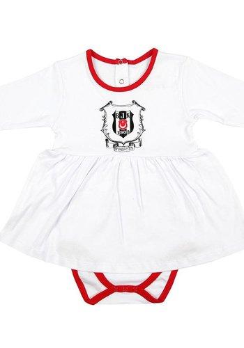 Beşiktaş Mädchen Baby Langarmbody K18-112 Weiss