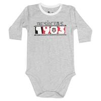 Beşiktaş Baby Body Lange Mouwen K18-107 Grijs-Melange
