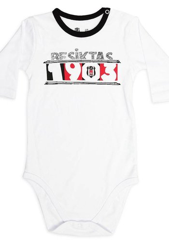Beşiktaş Baby Long Sleeved Body K18-107 White