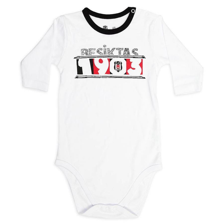 Beşiktaş Baby Langarmbody K18-107 Weiss