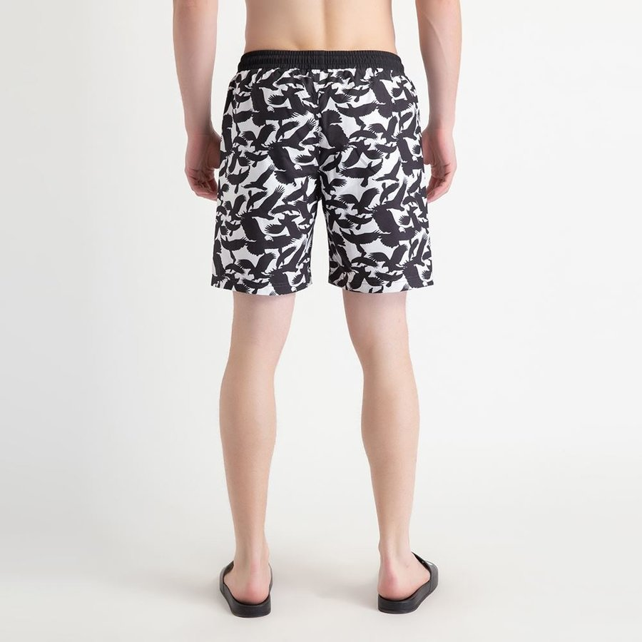 Beşiktaş Mens Eagle Print Swim Short 7919456 White