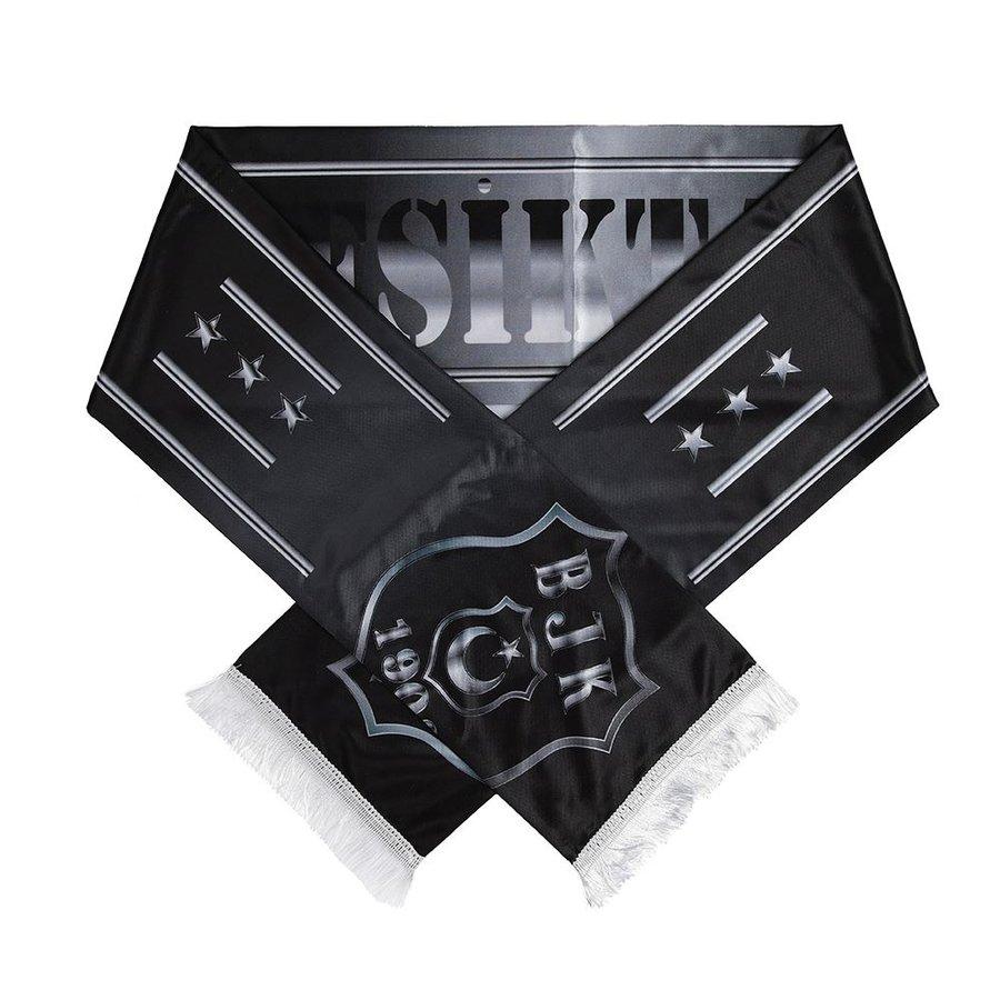Beşiktaş Logo Monochrome Satin Schal 05