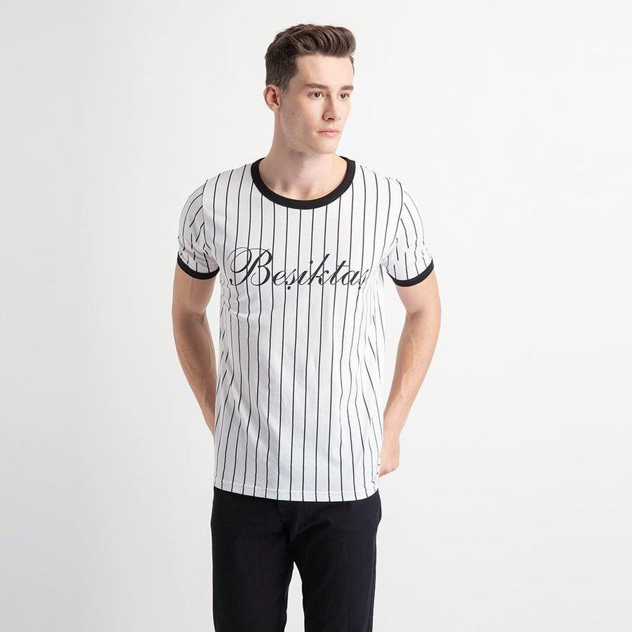 Beşiktaş Modern College T-Shirt Herren 7919121 Weiss