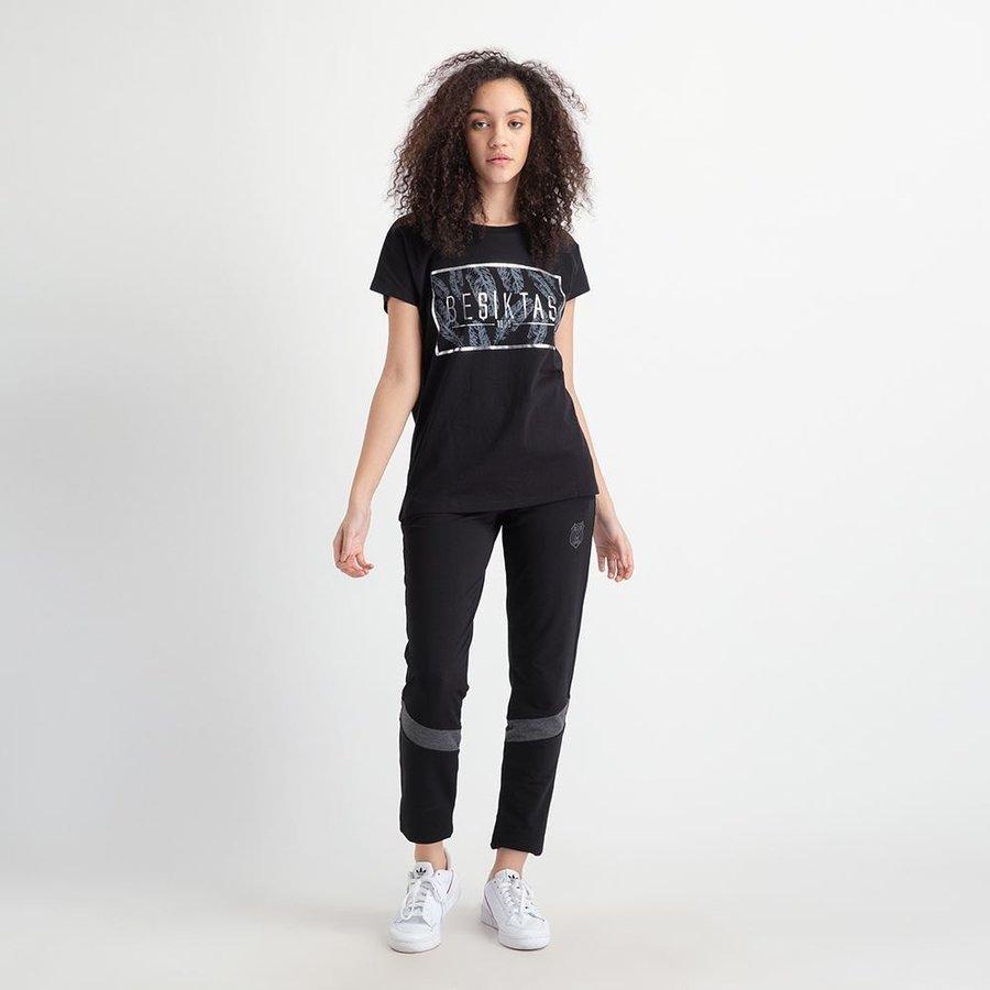 Beşiktaş Feather Print T-Shirt Damen 8919148 Schwarz