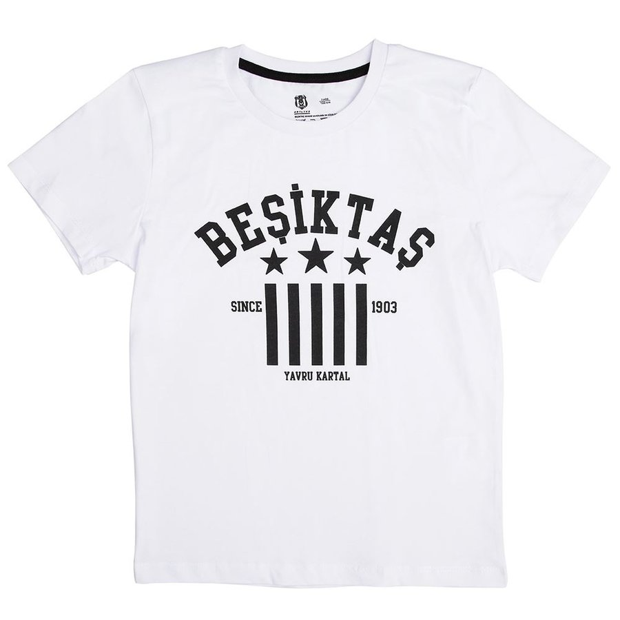 BEŞİKTAŞ  KIDS T-SHIRT Y19-134 BEYAZ