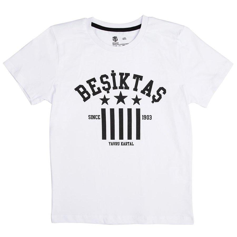 Beşiktaş T-Shirt Kinderen Y19-134 Wit