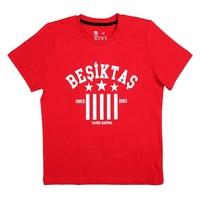 Beşiktaş T-Shirt Kinder Y19-134 Rot